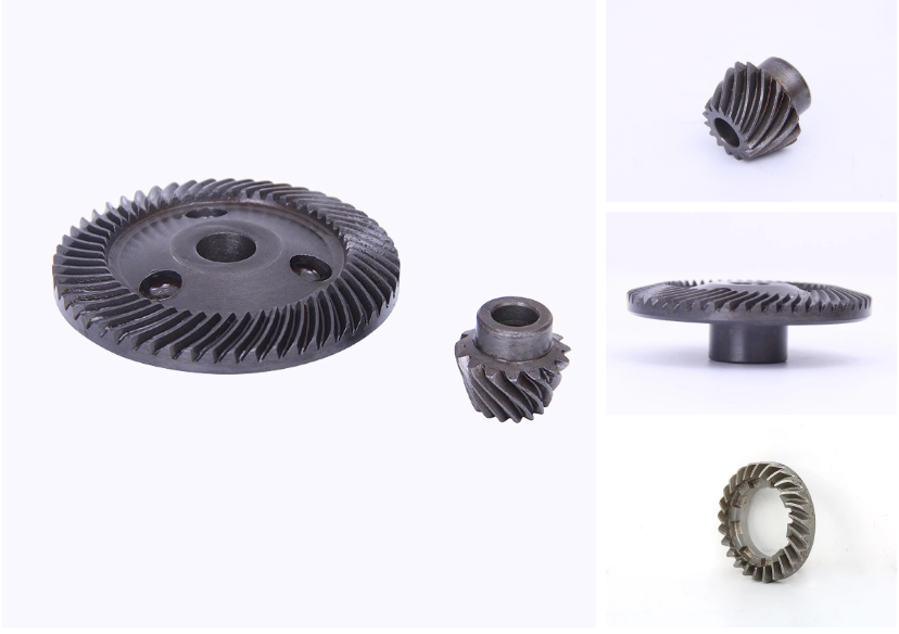 Aluminum spur gear in stock for angle grinder